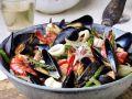 Meeresfrüchte mit Fenchel und Spargel Rezept