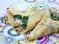 Mit Spinat gefüllte Pfannkuchen Rezept