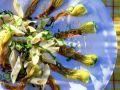 Nudelsalat mit gebratenen Zucchiniblüten Rezept