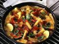 Omelett mit Nudeln und Gemüse Rezept
