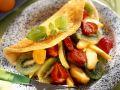 Omelett mit Obstsalat Rezept