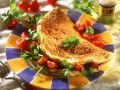 Omelette mit Kräutern und Tomaten Rezept