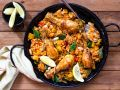 Paella valencianische Art mit Hähnchen Rezept