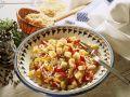 Paprika-Käsesalat mit Reis Rezept