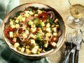 Paprika-Maissalat mit Käse Rezept