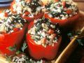 Paprika mit Puten-Reisfüllung Rezept