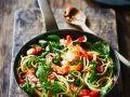 Pasta mit Shrimps und Rucola Rezept