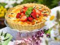 Pikanter Spargel-Erdbeer-Kuchen Rezept