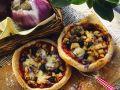 Pizza mit Auberginen Rezept
