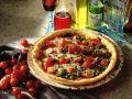 Pizza mit Rauke und Bündner Fleisch Rezept