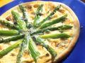 Pizza mit Spargel und Käse Rezept