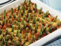 Polenta-Speck-Auflauf mit grünen Bohnen gespickt Rezept