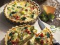 Quiches mit Brokkoli und Speck Rezept
