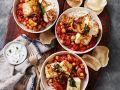 Reis mit Kichererbsen-Ragout und Paneer Rezept