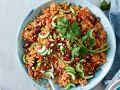 Reissalat mit Granatapfelkernen und Pistazien Rezept