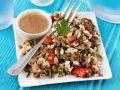 Reissalat mit Linsen, Auberginen und Paprika Rezept