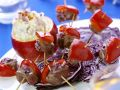 Rindfleisch-Paprika-Spießchen mit Rotkohl Rezept