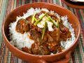 Rindsgulasch mit Reis Rezept