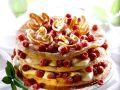 Sahne-Himbeer-Kuchen aus Brandteig Rezept