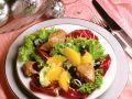 Salat mit Entenleber und Orangenfilets Rezept
