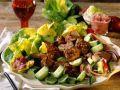 Salat mit gebratenem Rindfleisch Rezept