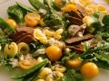 Salat mit Nudeln, Gemüse und Kalbsleber Rezept