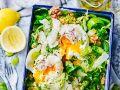 Salat mit pochiertem Ei Rezept