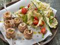 Saltimbocca am Spieß mit Salat Rezept