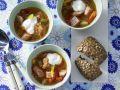 Sauerkrautsuppe mit Kassler Rezept