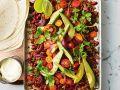 Scharfes Cajun-Hackfleisch mit Avocado und Koriander Rezept