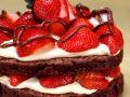 Schokoküchlein mit Erdbeeren Rezept