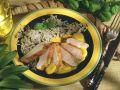 Schweinerückenbraten mit Currysauce und Wildreis Rezept