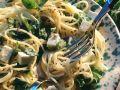 Spaghetti mit Schafskäse und Basilikum Rezept
