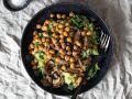 Spinat-Kartoffelpüree mit Kichererbsen Rezept
