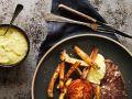 Steak mit Bernaise-Dip und grünen Bohnen Rezept