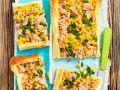 Tarte mit Blätterteig, Thunfisch und Maiskörnern Rezept