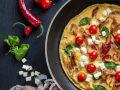 Tomaten-Speck-Omelett mit Feta Rezept
