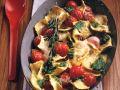 Überbackene Ravioli mit Pesto und Tomaten Rezept