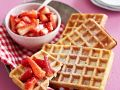 Waffeln mit Kokos-Erdbeeren Rezept