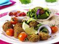 Wraps mit Kichererbsen-Bällchen mit Tomatensalsa Rezept