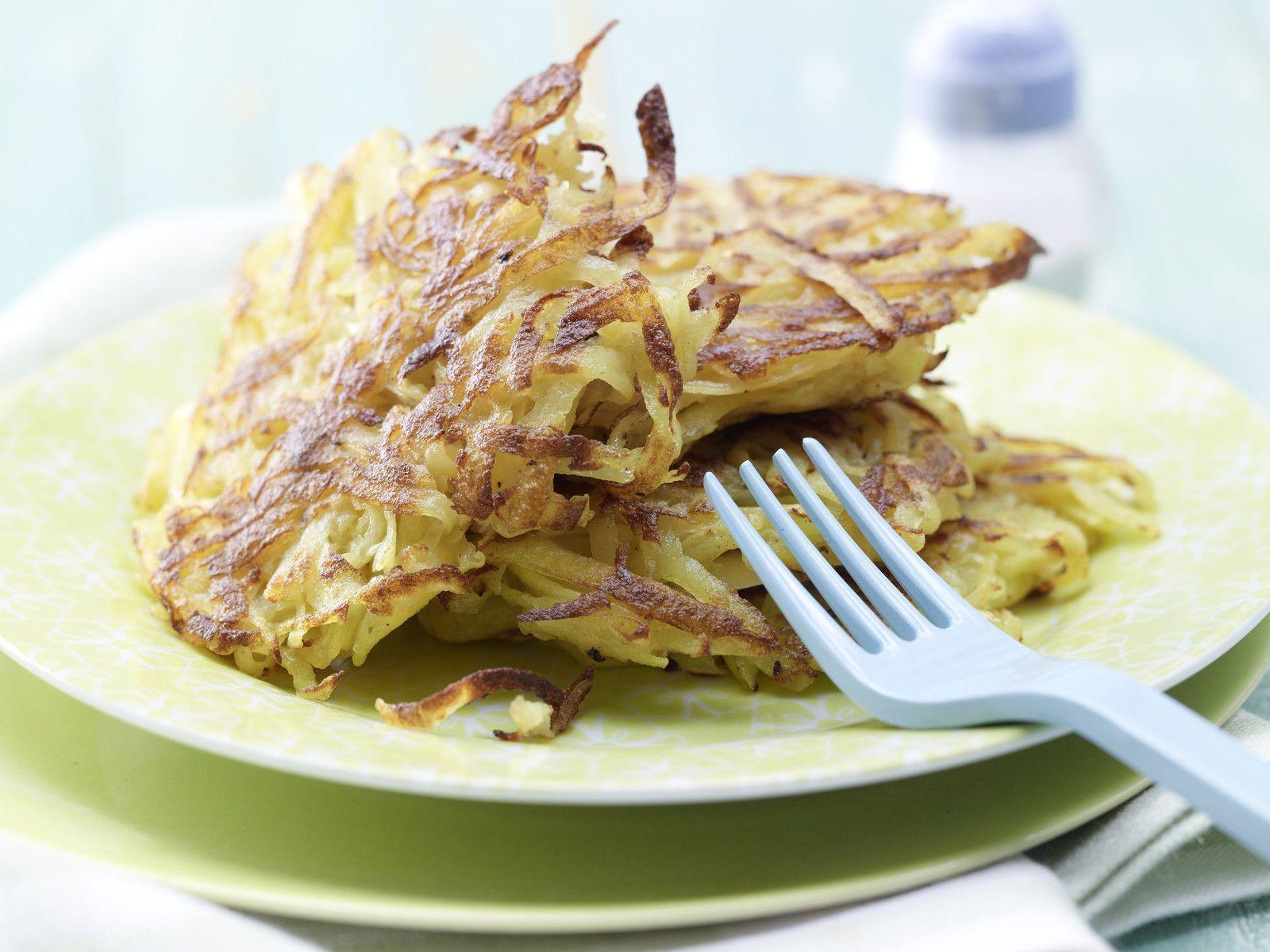 rösti aus gekochten kartoffeln