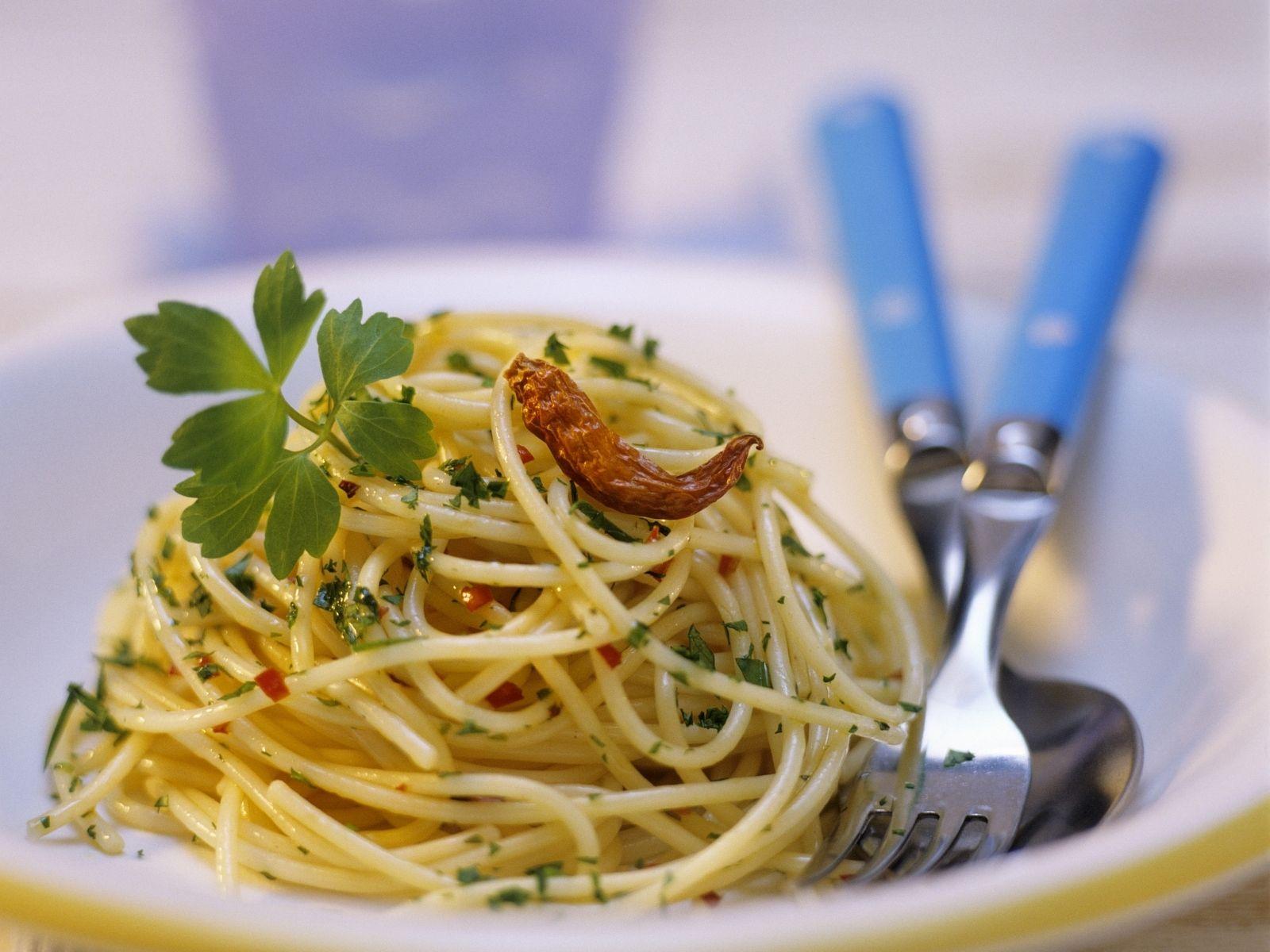 Scharfe Pasta aglio e olio