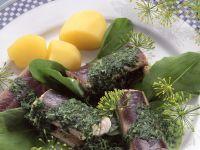 Aal grün mit Kräutersoße und Salzkartoffeln Rezept