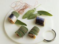 Aal mit Salbei umwickeln Rezept