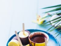 Ananas-Kokos- Eis mit Schokolade Rezept
