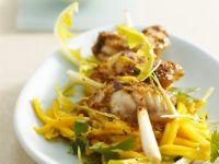 Anglerfisch-Spieß mit Mangosalat Rezept