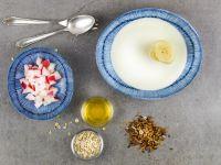 Apfel-Bananen-Joghurt mit Haferflocken Rezept