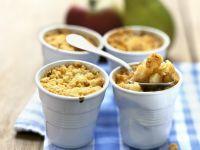 Apfel-Birnen-Gratin mit Streuseln (Crumble) Rezept