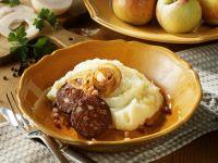 Apfel-Kartoffel-Püree mit Blutwurst (Himmel und Erde) Rezept
