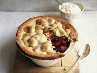 Apfel-Pie mit Brombeeren Rezept